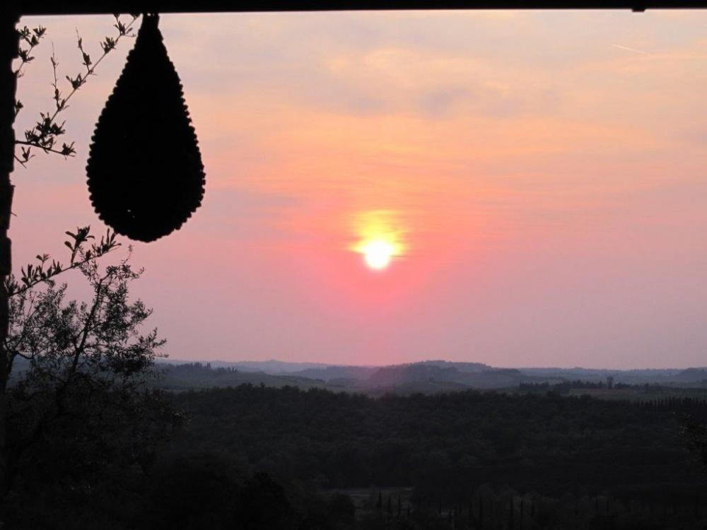 semidetached house castelfalfi sunset
