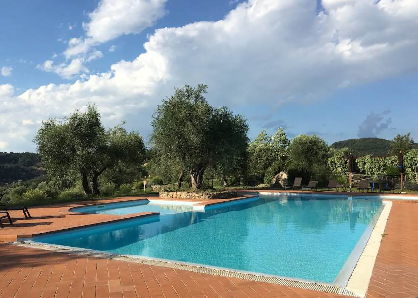 farmhouse at castelfalfi swimming pool
